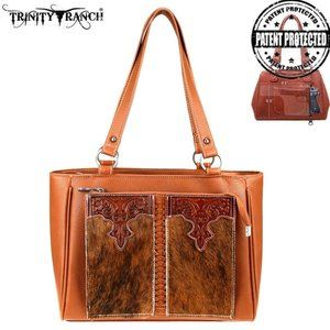 Trinity Ranch Hair-On Leather Carry Organizer Tote